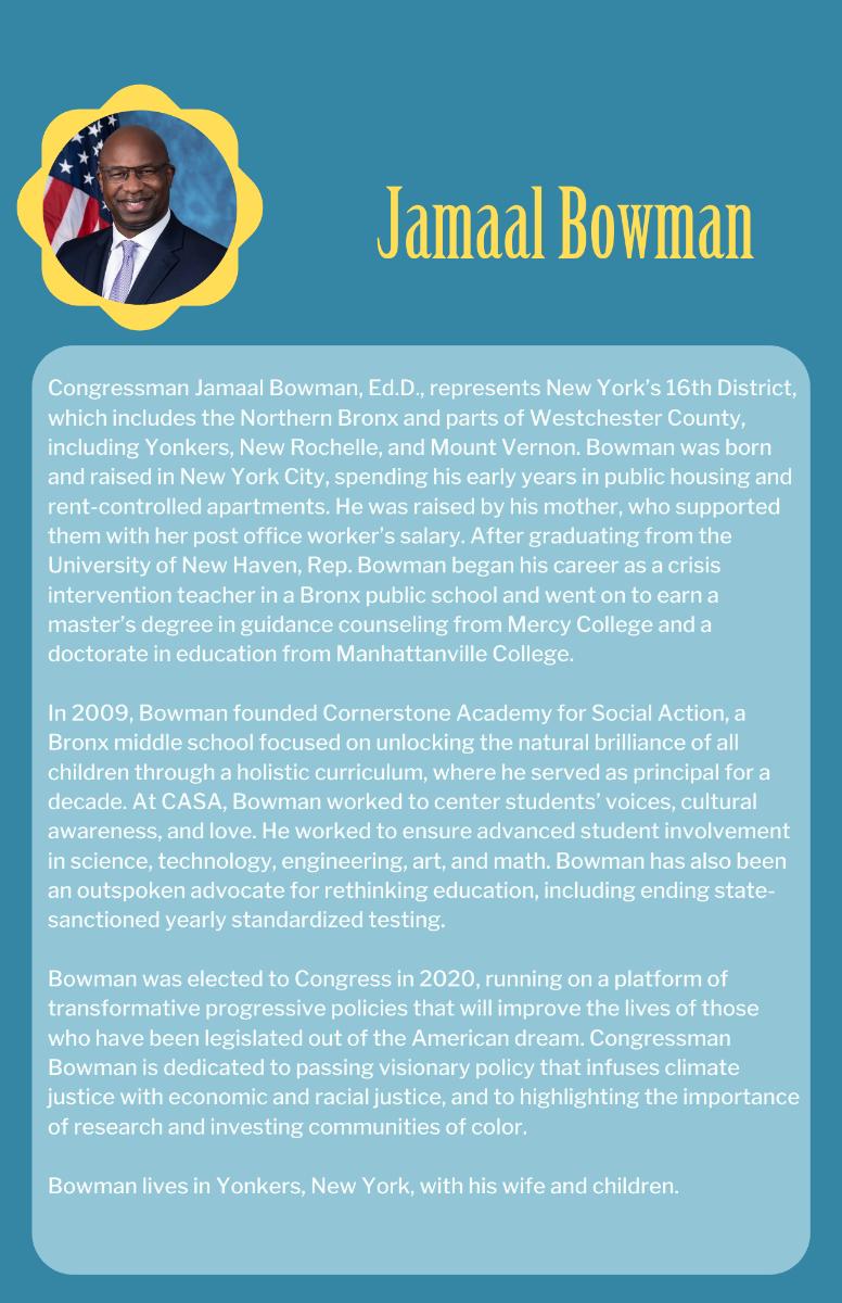 Jamaal Bowman Bio